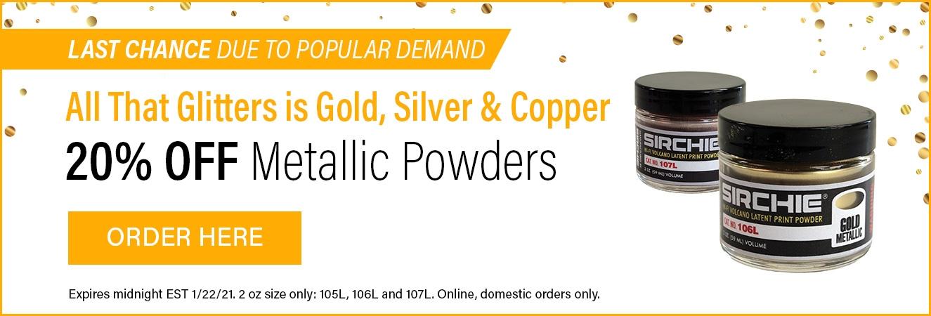 Metallic Powder Sale!